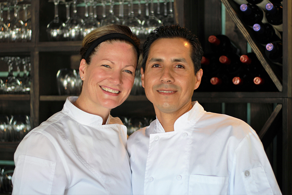 Chefs Jaime and Jeanette Quintana from The Baker's Table